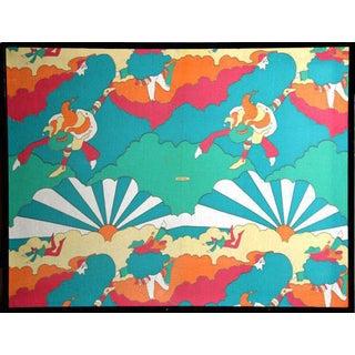 Peter Max Sunburst Fabric For Sale