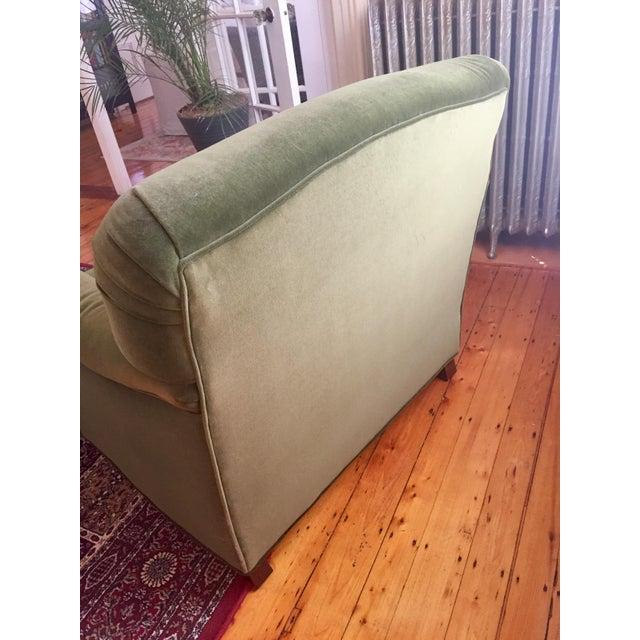 Textile Roger + Chris Velvet Basel Armchair & Ottoman For Sale - Image 7 of 8