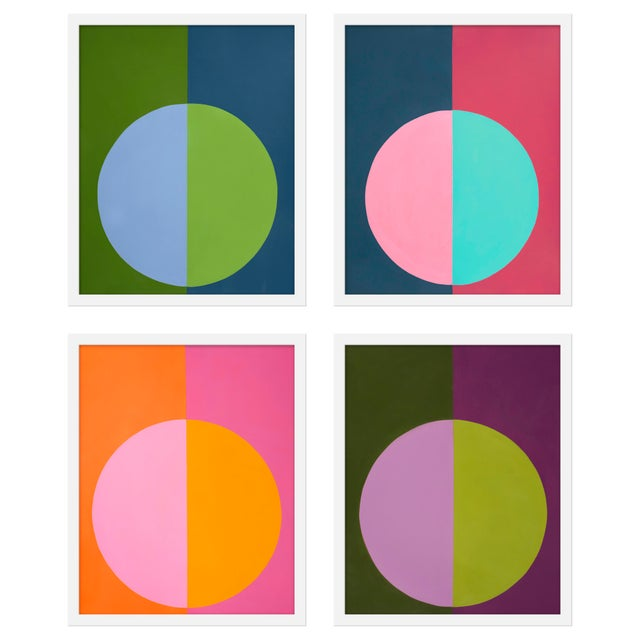 "Contemporary Medium ""Forevers 1, Set of 4"" Print by Stephanie Henderson, 32"" X 40"" For Sale - Image 3 of 3"