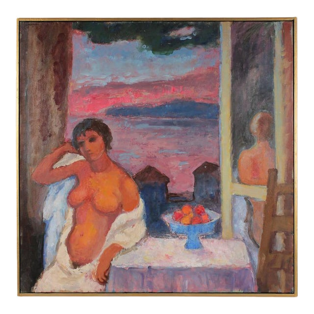 "Gerald Wasserman ""Cannery Row Nude"" Sunset Landscape - Image 1 of 3"