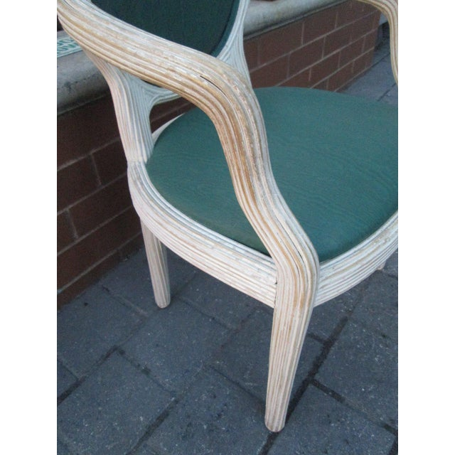 Four Bamboo Lime Finish Armchairs - Image 5 of 7
