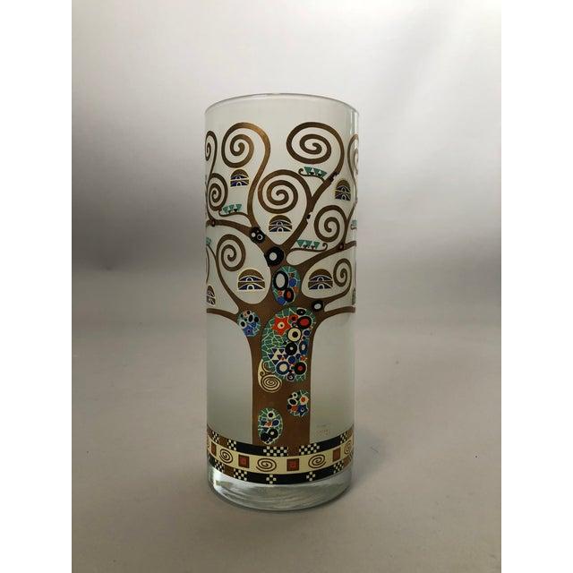 2010s Gustav Klimt Glass Vase For Sale - Image 5 of 5