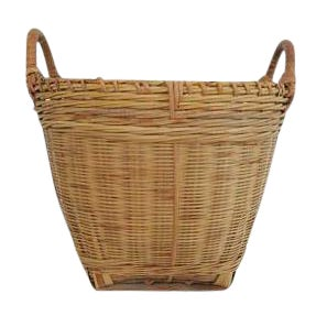 Small Round Woven Double Handled Basket