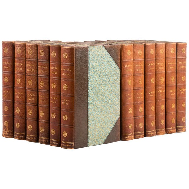 1900s Captain F. Brinkley's Japan: Its History Arts and Literature Leather Volume Set - 12 Books For Sale - Image 13 of 13