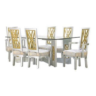 Chinoiserie James Mont Dining Set - 7 Pieces For Sale