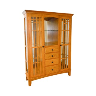 Mission Oak Arts & Crafts Style Curio Display Cabinet Etagere For Sale