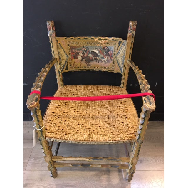 Antique Italian Carved Wood Chair 19th Century For Sale - Image 9 of 9