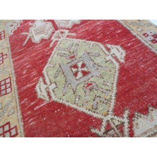 """Vintage Turkish Red Yellow Runner-1'10'x3'1"""" Preview"""