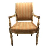 Image of Mid 19th Century Vintage French Painted Directoire Arm Chair For Sale