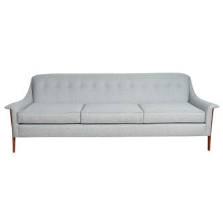 Kroehler Avant Walnut Sofa For Sale