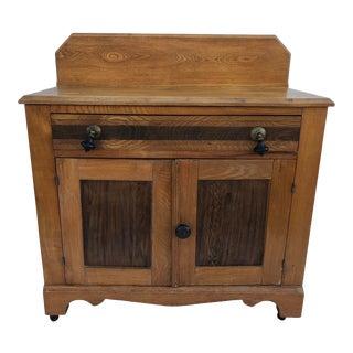 Early American Oak Cabinet For Sale