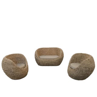21st Century Denpasar Rattan Set- 3 Pieces For Sale