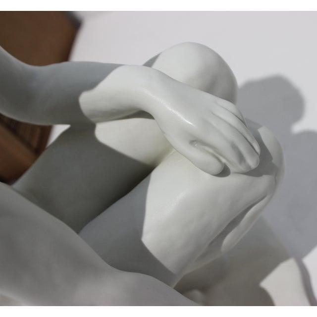 """Vintage Rosenthal Sculpture """"Die Hockende"""" Fritz Klimsch Large Size Model For Sale In West Palm - Image 6 of 13"""