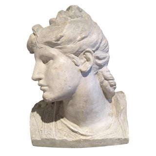 19th Century Plaster Bust From Union Centrale Des Arts Décoratifs For Sale