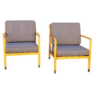 Folke Ohlsson Mid Century Chairs - Pair