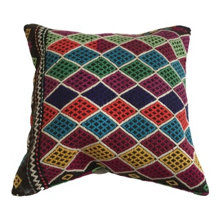 "Embroidered Anatolian Pillow - 16"" x 16"" For Sale"