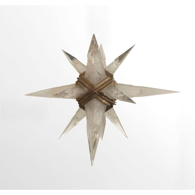 Art Deco 1930s American Art Deco Star Form Chandelier For Sale - Image 3 of 7