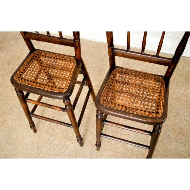Wicker Antique Victorian Children's Cane High Chairs For Sale - Image 7 of  11 - Antique Victorian Children's Cane High Chairs Chairish