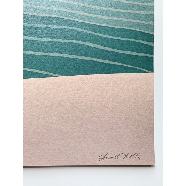1970s Vintage Scott Nelli Abstract Lithograph Print For Sale - Image 4 of 7