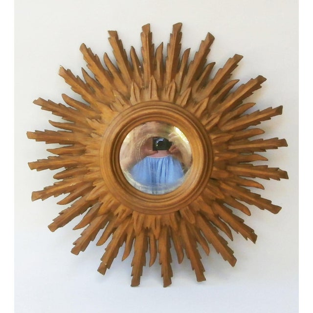 French Sunburst Double Layered Gilded Mirror, Circa 1950 - Image 2 of 5