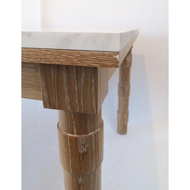 Martin & Brockett Cersued Oak & Marble Dining Table - Image 6 of 6