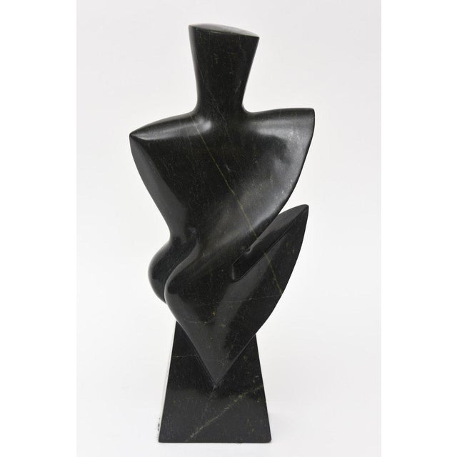 Abstract Vintage Modernist Granite Sculpture For Sale - Image 3 of 11