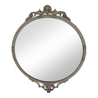 Hollywood Regency Shell Motif Gold Framed Mirror For Sale