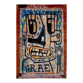 Contemporary Rae NYC Street Artist Rug - 6′ × 9′ For Sale