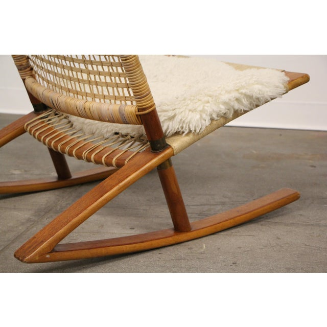 1950s 1950s Mid-Century Modern Frederik Kayser Rocking Chairs - a Pair For Sale - Image 5 of 13