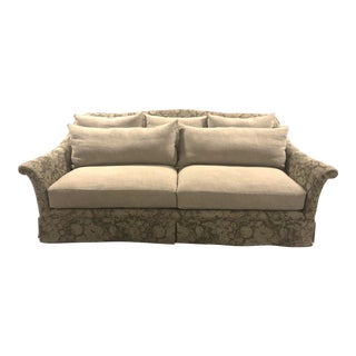 Modern Ashland Skirted Sofa For Sale