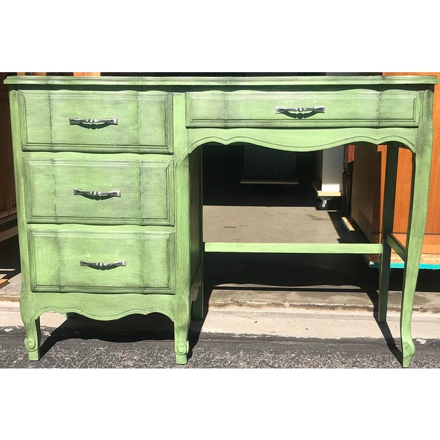 "Nice Kent-Coffey ""The Maisonette"" desk. Recently painted."