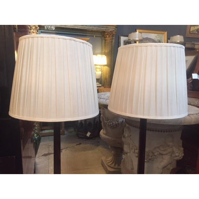Macassar Ebony Floor Lamps - a Pair For Sale In Los Angeles - Image 6 of 10