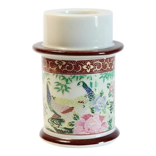 Japanese Floral Motif Candle Holder For Sale