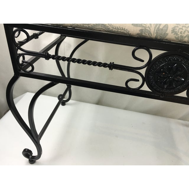 Black Wrought Iron Vanity Bench For Sale - Image 8 of 8