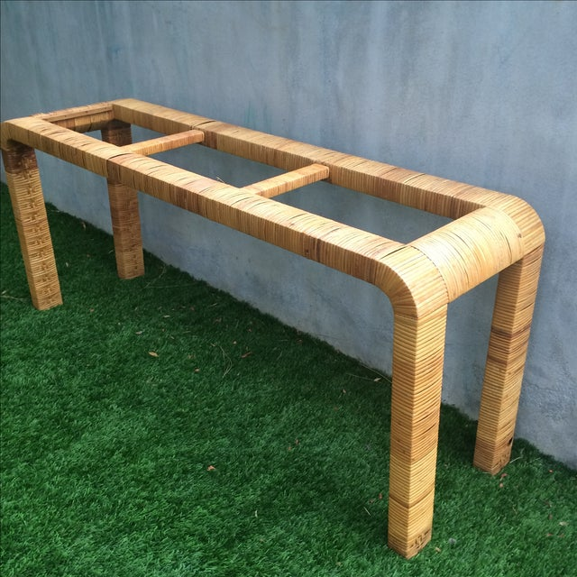 Rattan Console Table - Image 3 of 9