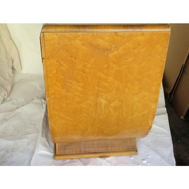 Art Deco French Art Deco Burl Wood Vanity For Sale - Image 3 of 6