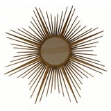Image of Vintage Chaty Vallauris Signed French Sunburst Mirror For Sale