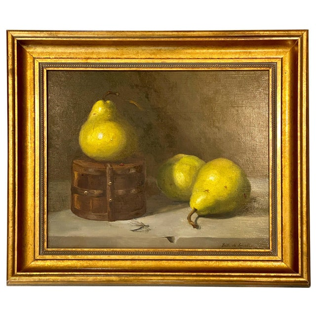 Contemporary Still Life With Pears Oil Painting by Beth DeLoiselle, Framed For Sale In Charleston - Image 6 of 6