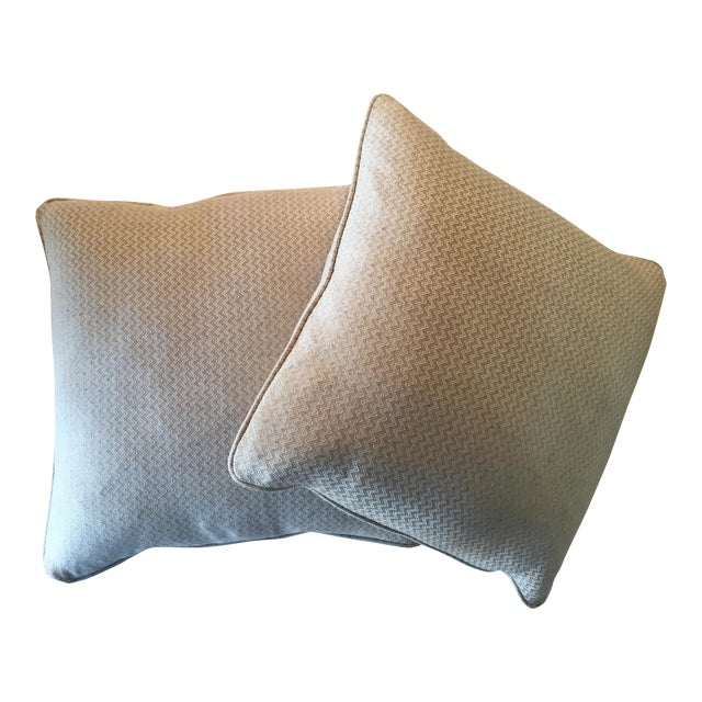 Nobilis Chevron Patterned Pillows - A Pair - Image 1 of 8