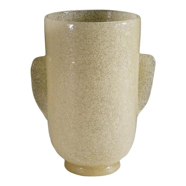 Carlo Scarpa 'A Bollicine' Glass Vase for Venini Ca. 1932 For Sale