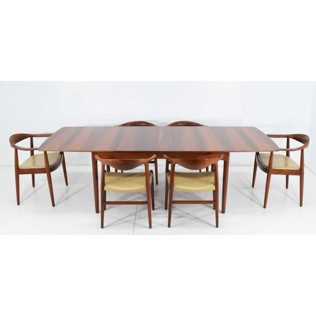 Rosewood and Teak Dining Table by Worts Mobler For Sale - Image 10 of 11
