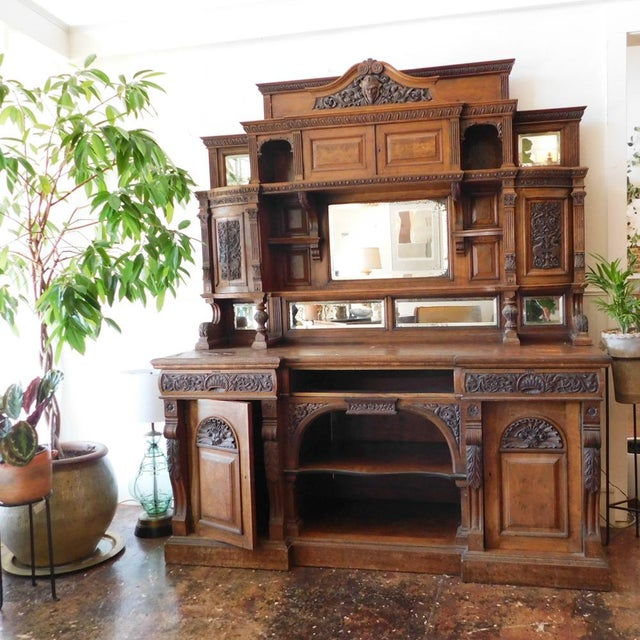 Early 20th Antique European Hutch For Sale - Image 10 of 10