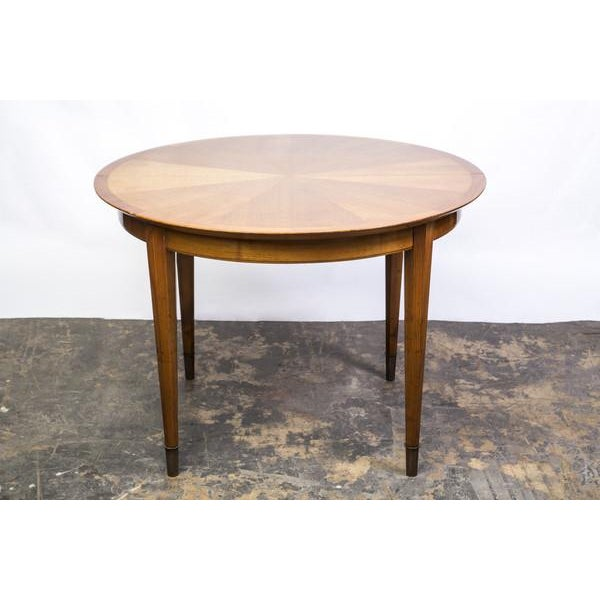 Deco Sycamore Sunburst Dining Table by Dominique - Image 2 of 5