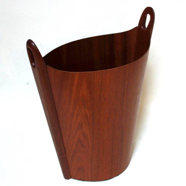 1960s Einar Barnes for P. S. Heggen Teak Wastepaper Basket - Image 3 of 11