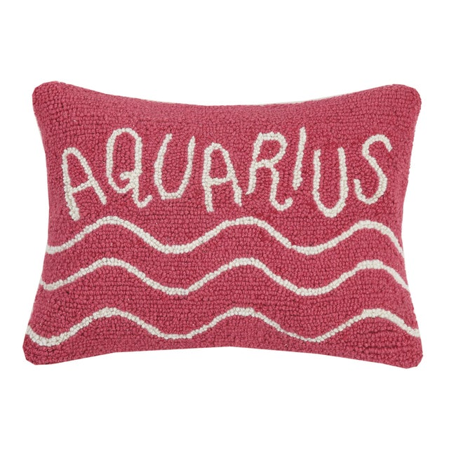 """Contemporary Aquarius Hook Pillow, 12"""" x 16"""" For Sale - Image 3 of 3"""