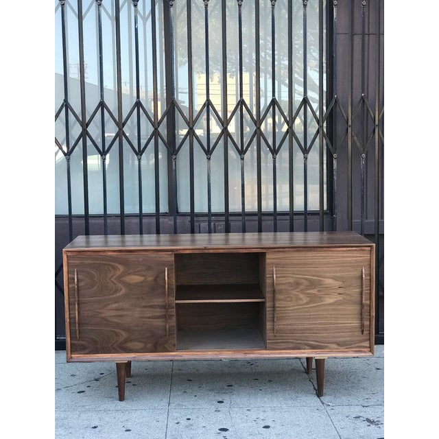 Contemporary Media Stand With Arched Handles For Sale - Image 10 of 12