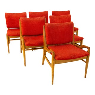 John Keal for Brown Saltman Mid Century Mahogany Dining Chairs - Set of 6 For Sale