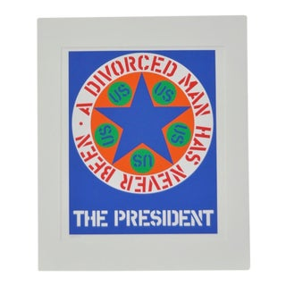 "C.1997 Robert Indiana ""A Divorced Man Has Never Been President"" C.1997 For Sale"