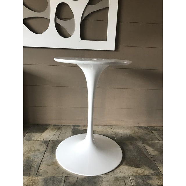 Authentic Eero Saarinen for Knoll White Pedestal Table Base For Sale - Image 13 of 13