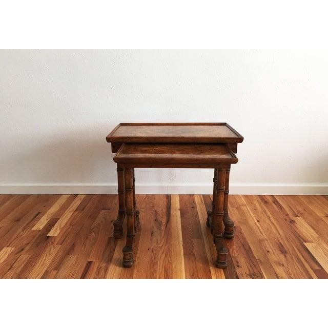 Drexel Vintage Drexel Heritage Nesting Tables - A Pair For Sale - Image 4 of 9